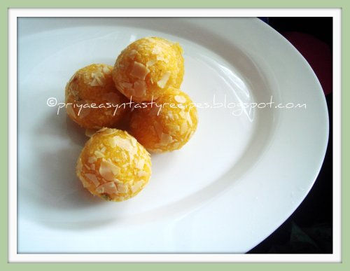 Mango-Coconut Laddoo