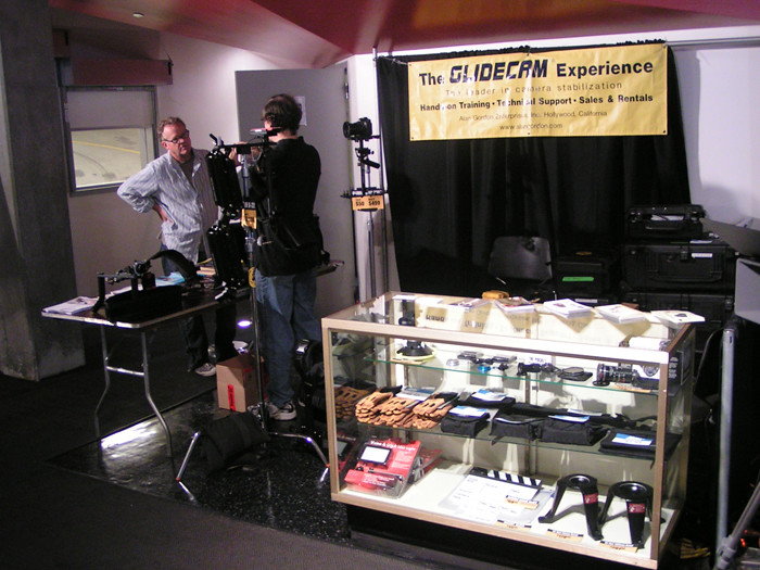 Alan Gordon's & Glidecam's Booth at Photo Cine Expo 2010