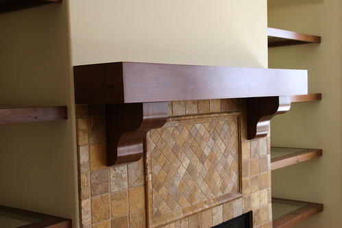 Mantel and Floating Shelves