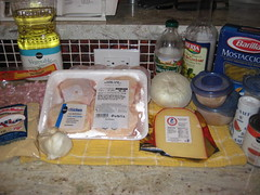 macarrones con pollo ingredients