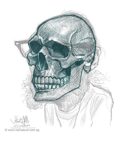 Schoolism - Assignment 6 - Sketch 2 of Bill skull