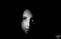 Sinks (LaKry*) Tags: portrait blackandwhite black eye girl dark grey grigio darkness ritratto nero occhio biancoenero ragazza buio scuro kry