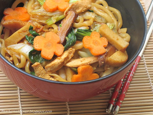 Stir fried black pepper Udon noodles