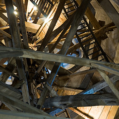 Ladders (The Image Den) Tags: nikon timber availablelight spire wiltshire salisburycathedral ladders d5000