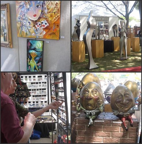 art work collage from art festival