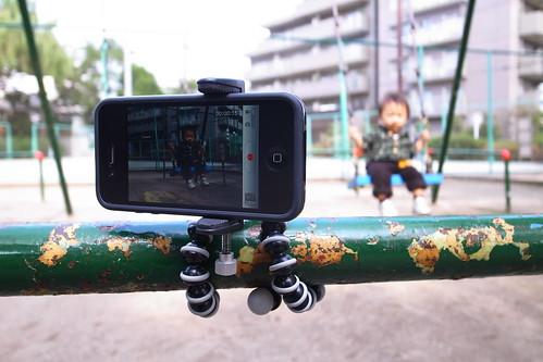 iPhone4を固定してのHDムービー撮り