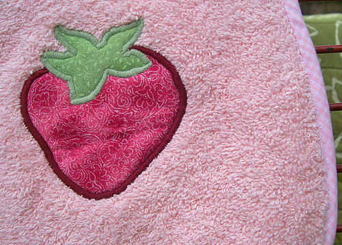 juicy strawberry baby bib