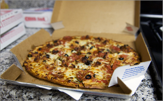 U is for un-freakin-believable... Dominos FORGOT MY CHICKEN!!!