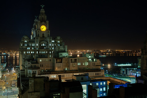 Royal Liver Building, Liverpool and Wirral Skyline