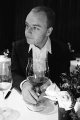 Morten with giant wine glass