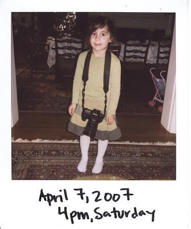 April 7, Camera Girl