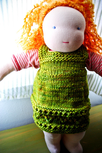 october :: doll knits, yarn and a new library bag...