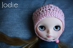 My sweetheart with her new beanie :-)