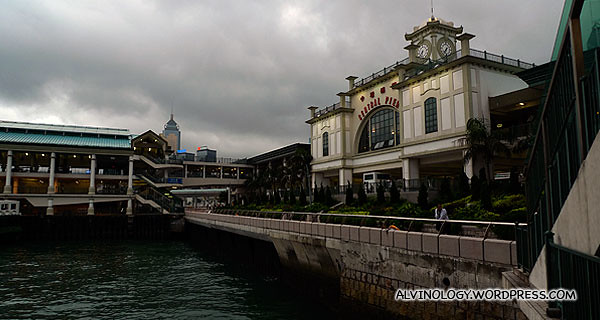 We took the star ferry again to this pier to change bus to the Peak