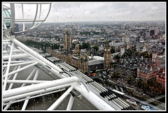 Wet London (Nige H (Thanks for 8m views)) Tags: london rain housesofparliament londoneye bigben