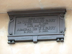 Photo of Caleb Hillier Parry and W. E. Parry bronze plaque