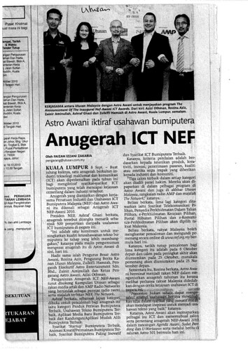 Media Report -- Utusan Sep 9, 2010
