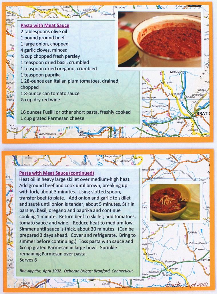 Pasta Recipe Card