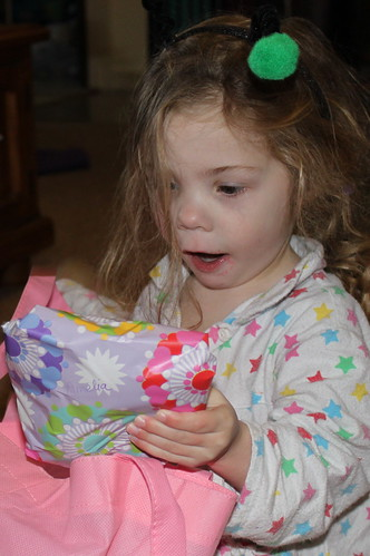 Amelia and birthday present