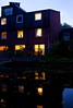 The nights are drawing in! (Sujit & Roz) Tags: reflections lights canal sundown redlight victoriaparklondon bestfriendsnarrowboat