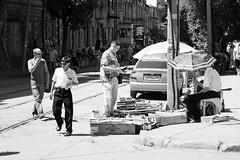 Street vendors in Rostov-on-Don (k.dmitrijewa) Tags: street blackandwhite bw digital canon blackwhite russia russie rostovondon rusia russland  rosja rusya rostovsurledon 40d oroszorszg  canon40d pennyjey  rostowamdon rostovsuldon
