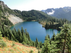 Eunice Lake on trail to Tolmie lookout.