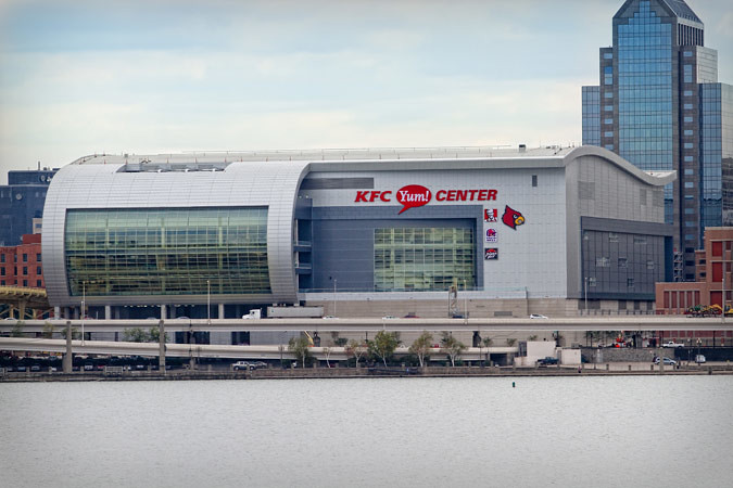 Exterior of the new KFC Yum! Center (Courtesy Louisville Arena Authority)