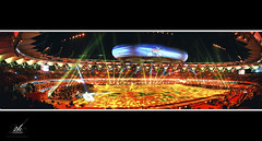 JLN Stadium Panorama1 (2k Photography) Tags: show night canon eos lights stadium delhi ceremony games laser closing commonwealth xix 2010 cwg 2k kissx2 ~2|{~ pushpdeeppandey