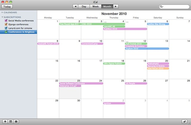 Lanyrd events in iCal