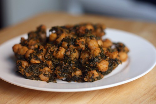 Moroccon Chickpeas and Spinach
