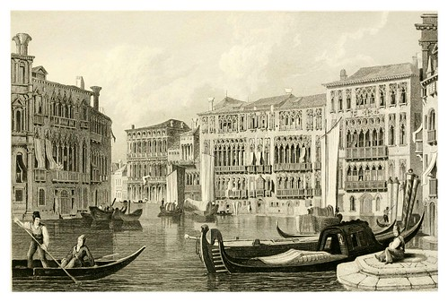 017-Palacio Foscari en Venecia-The tourist in Switzerland and Italy-1830-Samuel Prout