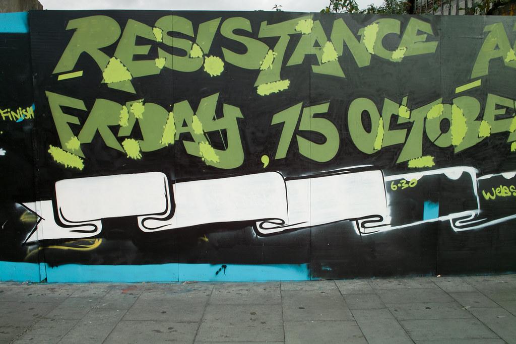 Dublin Street Art - Resistance (Portobello)
