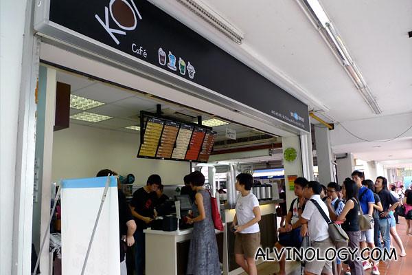 Long queue as usual at KOI Cafe
