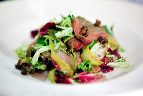 Roasted veal tongue salad
