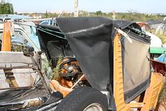 IMG_9793 (katy_nicolson) Tags: france car french rusty 2cv scrapyard scrap derelict frenchcar