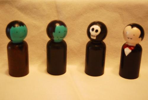 Frankenstein, Witch, Reaper and Vampire Dolls