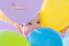 Peek-a-boo I see you.... (Kimberly Chorney) Tags: light balloons peekaboo yr littlegirlbirthdayone oldeyesnatural