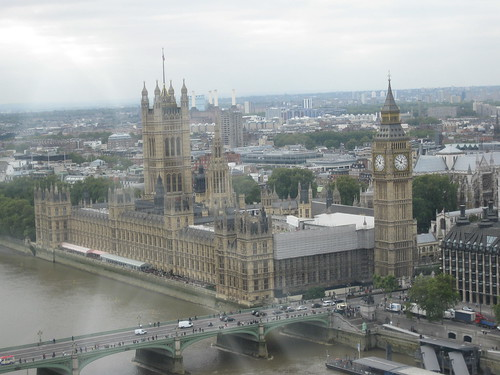 Houses of Parliment and Big Ben from the Eye