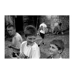 . (Emmanuel Smague) Tags: street leica travel people blackandwhite bw woman man film boys kids 35mm children photography europe report documentary kosovo mp balkans christians complicity enclave serbians orthodoxes emmanuelsmague serbianenclave
