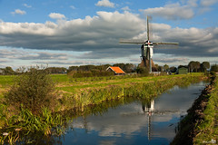 Boterslootse Molen (1837), Noordeloos (BraCom (Bram)) Tags: windmill clouds reflections ditch historical windmolen tistheseason historisch noordeloos poldermolen anawesomeshot wipmolen bracom mygearandmepremium mygearandmebronze mygearandmesilver mygearandmegold mygearandmeplatinum mygearandmediamond boterslootsemolen