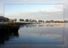 Echten (aNNaj) Tags: mist holland water reflections natuur picnik ochtend zandafgraving ochtendmist echten spiegelglad