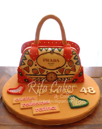 Prada Hand Bag Cake