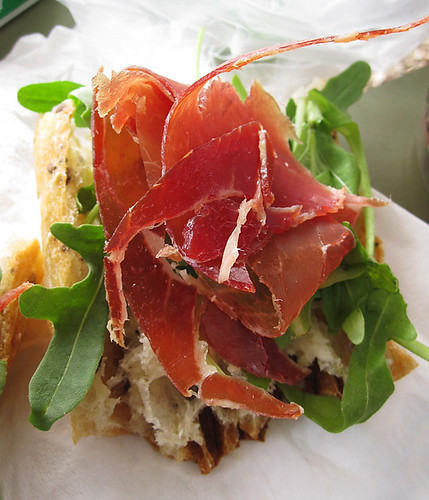 Seranno Ham, Arugula, and Butter Tartines