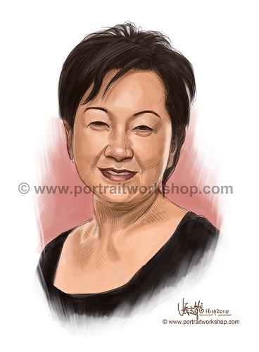 digital portrait illustration of Wee Wan Joo watermark