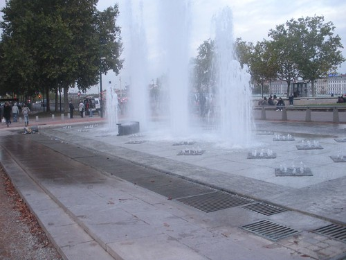 The fountain..