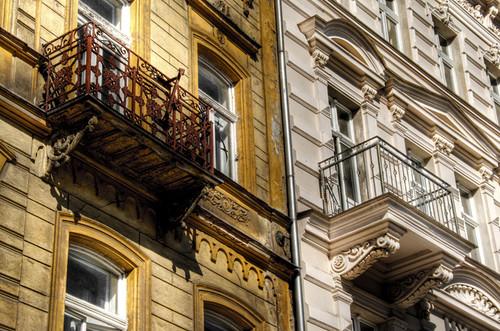 Balconies. Karlovy Vary. Balcones