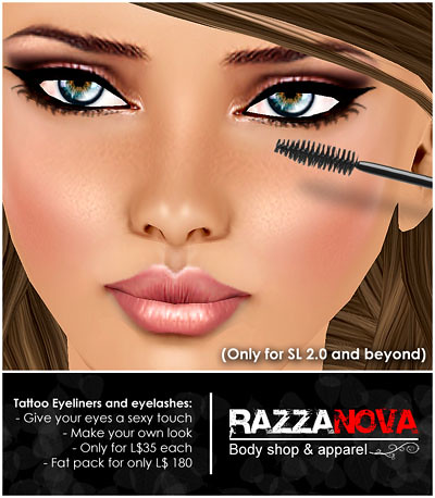 Tattoo make up on RazzaNova! We are very pleased to release our first line