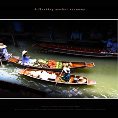 A floating market economy (saahmadbulbul) Tags: thailand floatingmarket digitalcameraclub canon50d maeklongriver 1116mm 100commentgroup bestcapturesaoi livingmuseums 300canals 32kilometers