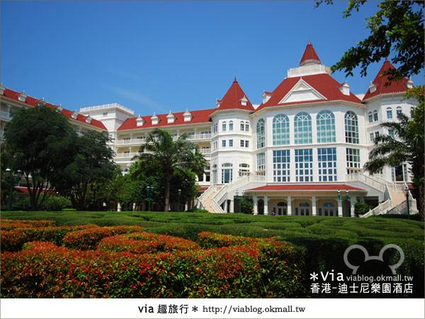 【香港住宿】跟著via玩香港(4)~迪士尼樂園酒店(外觀、房間篇)4