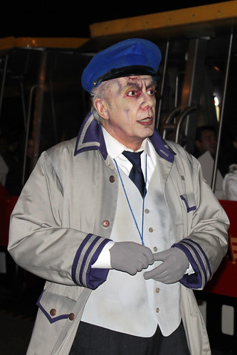 Undead attendant at Studio Tram Tour